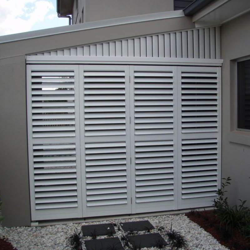 External Aluminium Shutters Windows Size Customized Home Window Louver